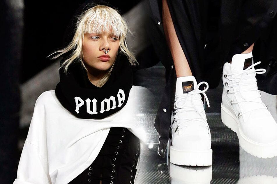 Ein Oberteil und Schuhe aus ihrer Fenty-Kolletkion für Puma.