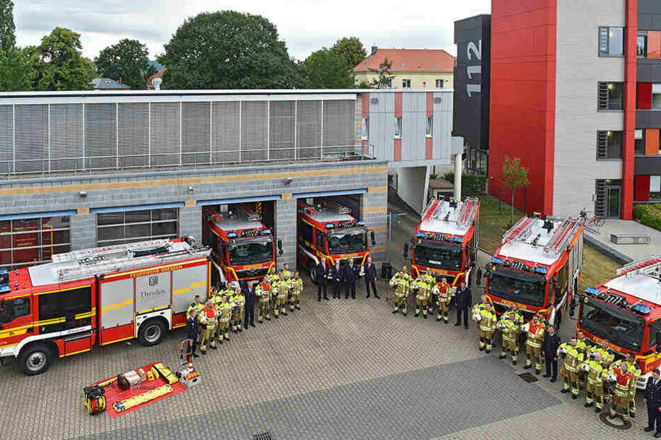 3 Millionen Euro investiert: Neue Feuerwehr-Fahrzeuge für Dresden