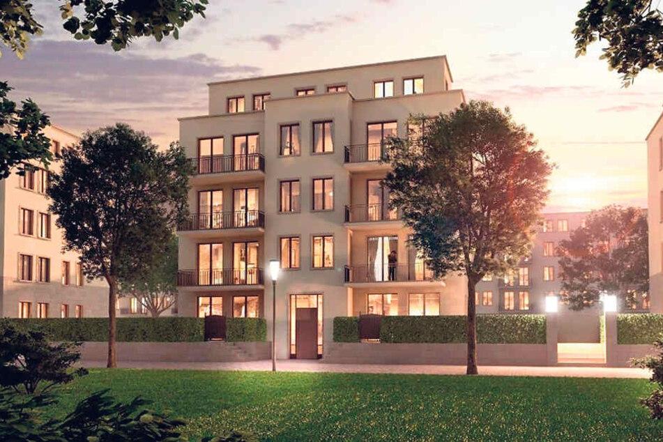 Auch solche schicken Stadtvillen sind in dem Baugebiet geplant.