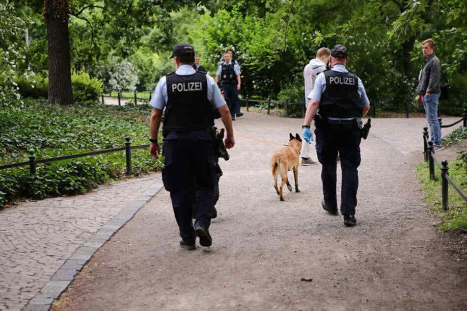 Auch im Bereich des Schwanenteichs ging die Polizei auf Tätersuche.