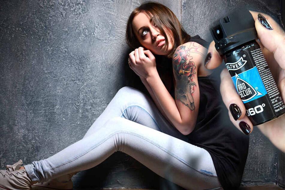 Eine junge Frau konnte sich durch Pfefferspray vor Belästigung retten.