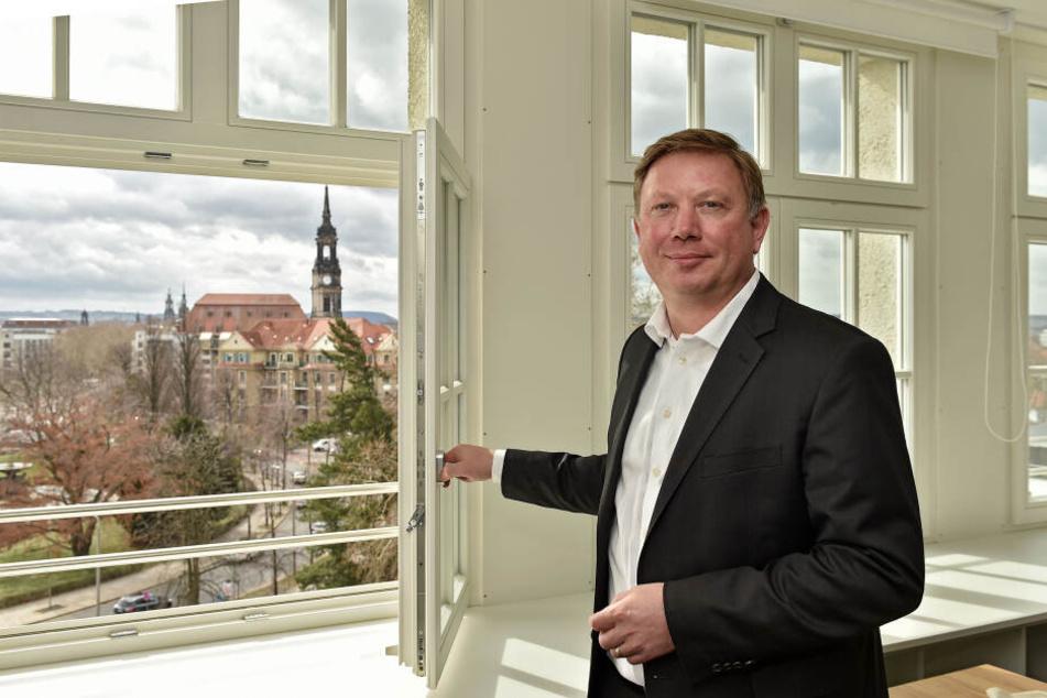 Eyk Pfeiffer sorgt mit seinem Team für frischen Wind im Simmel-Hochhaus.