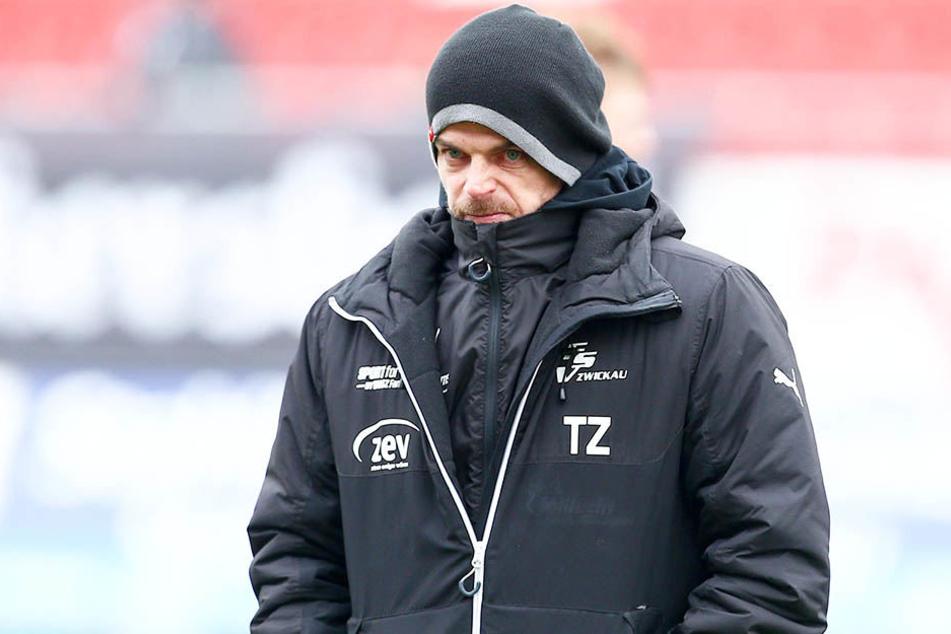Torsten Ziegner will mit dem FSV Zwickau den Würzburger Kickers ein Schnippchen schlagen.