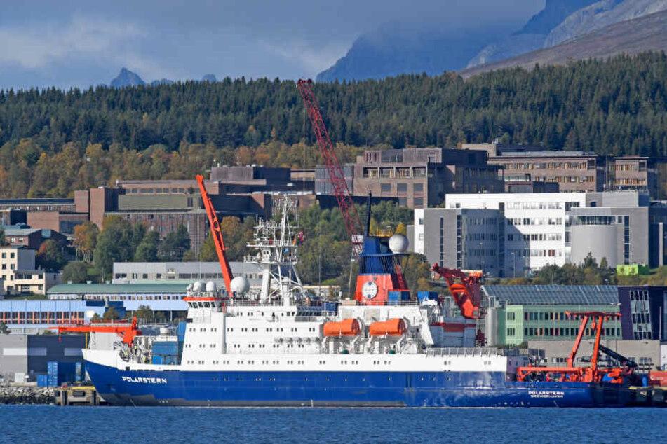 Die Polarstern startet von Tromso aus ihre Reise.