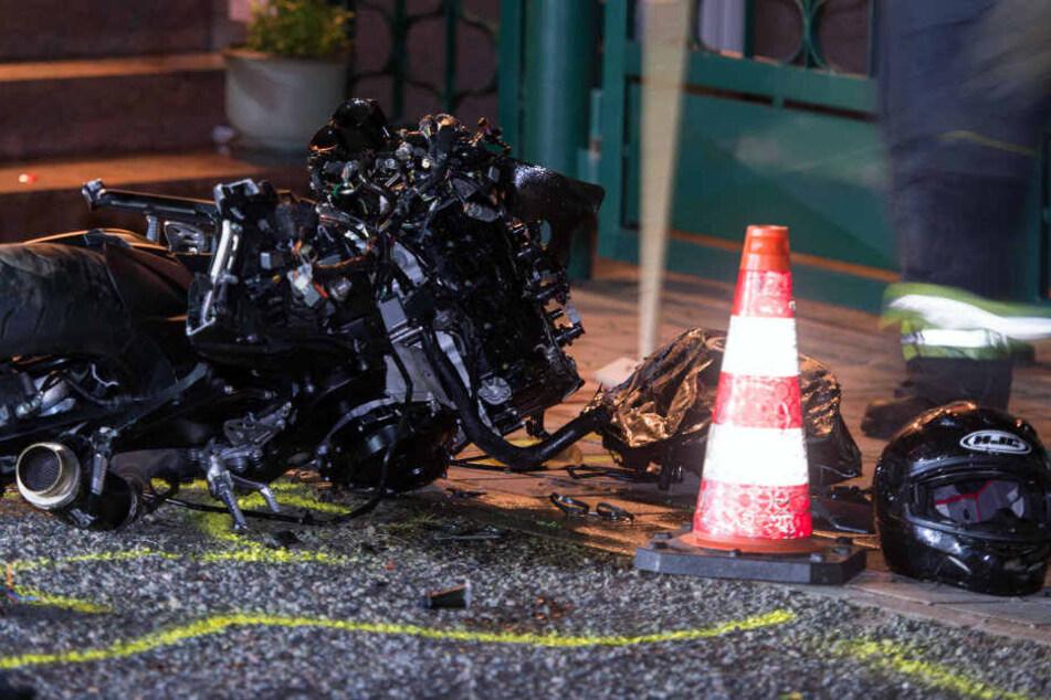 Auch bei diesem Unfall in Erfurt-Stotternheim, am 10. September, kam ein Motorradfahrer ums Leben.