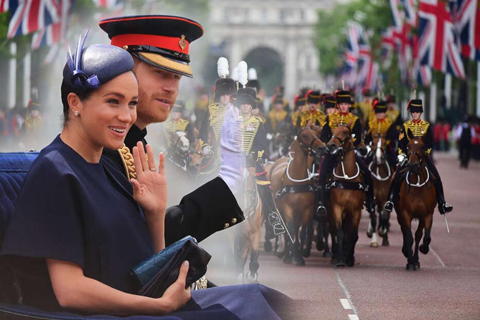 Geburtstagsparade für die Queen: Sogar Herzogin Meghan war dabei!