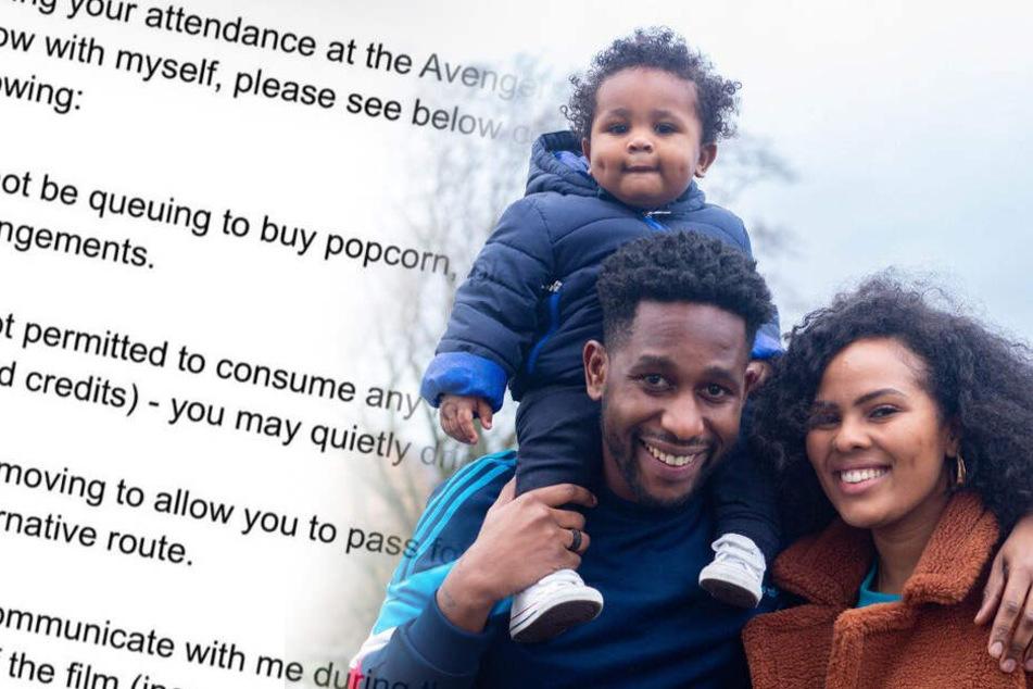 Mann stellt unfassbare Liste von Regeln auf, bevor er mit Freundin ins Kino geht