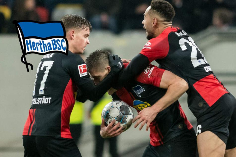 Irres Spiel in Düsseldorf: Hertha holt 0:3 auf!