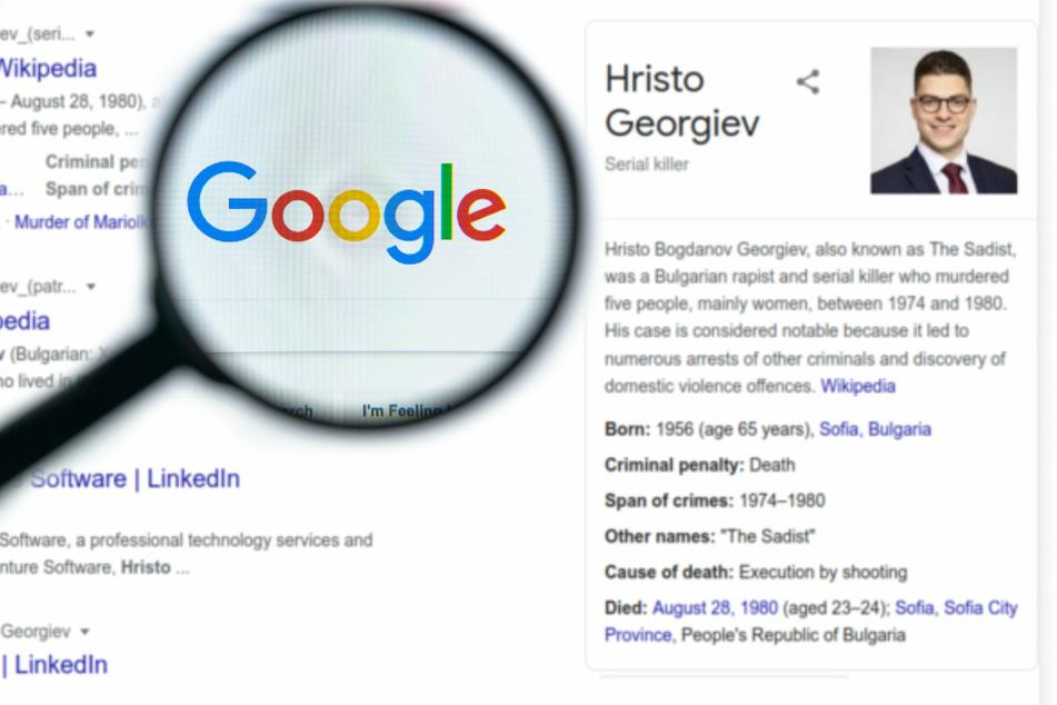 "Baffled man discovers Google listed him as a ""Sadist"" serial killer"