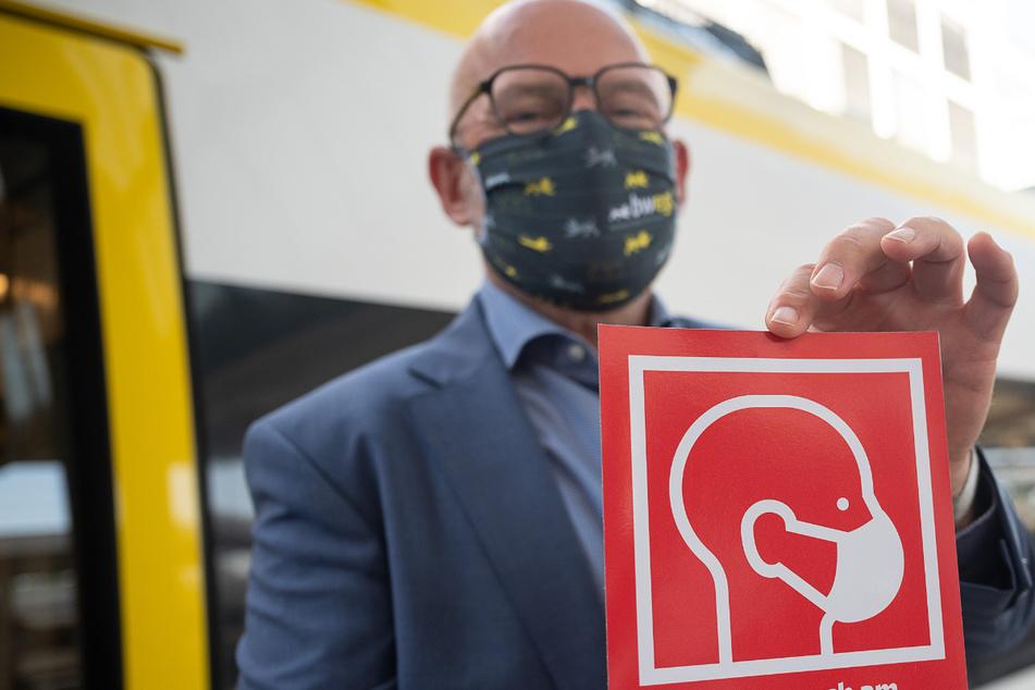 Hermann sagt Maskenmuffeln in der Bahn den Kampf an