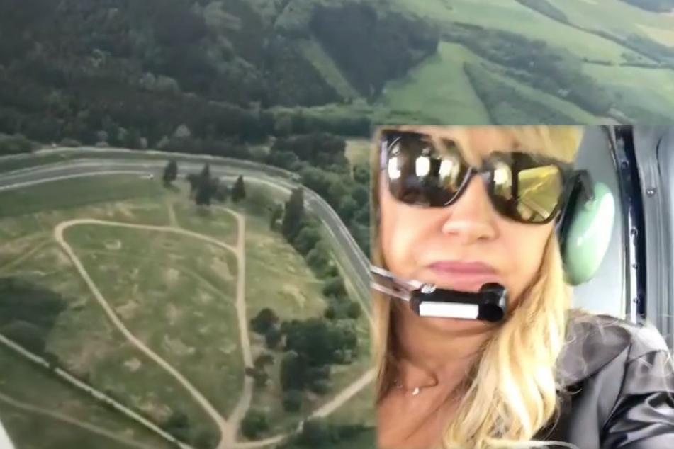 Carmen Geiss beim Heli-Rundflug.