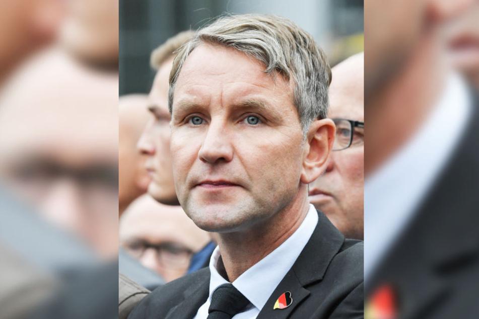 Björn Höcke nimmt an einer Demonstration von AfD und dem ausländerfeindlichen Bündnis Pegida teil.