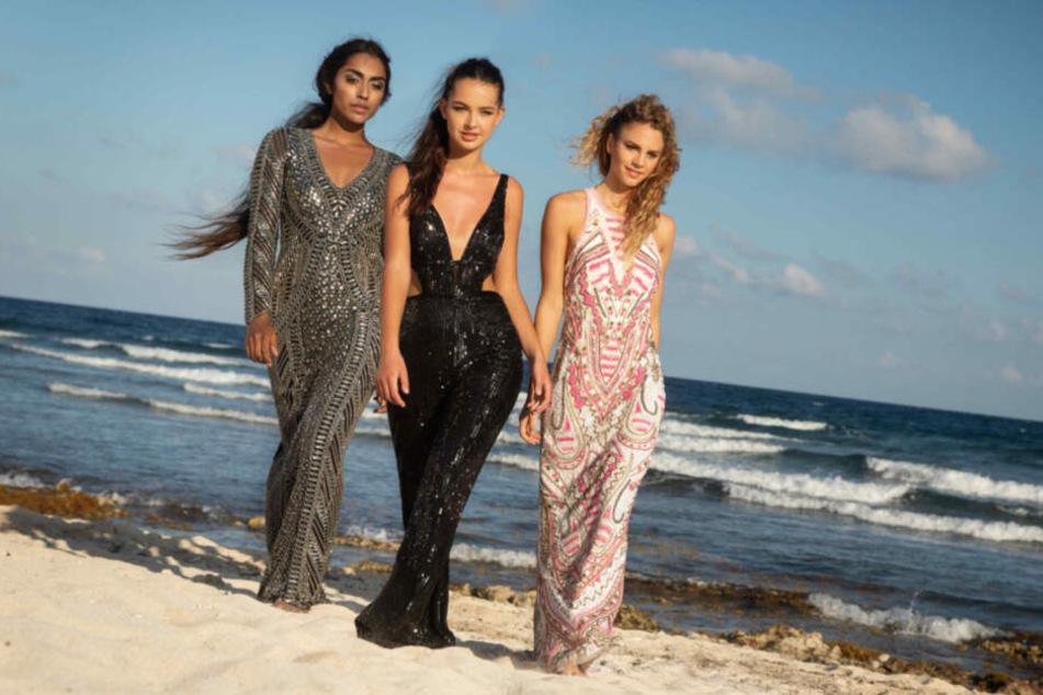 Die drei Finalistinnen Sayana, Cäcilia und Simone.
