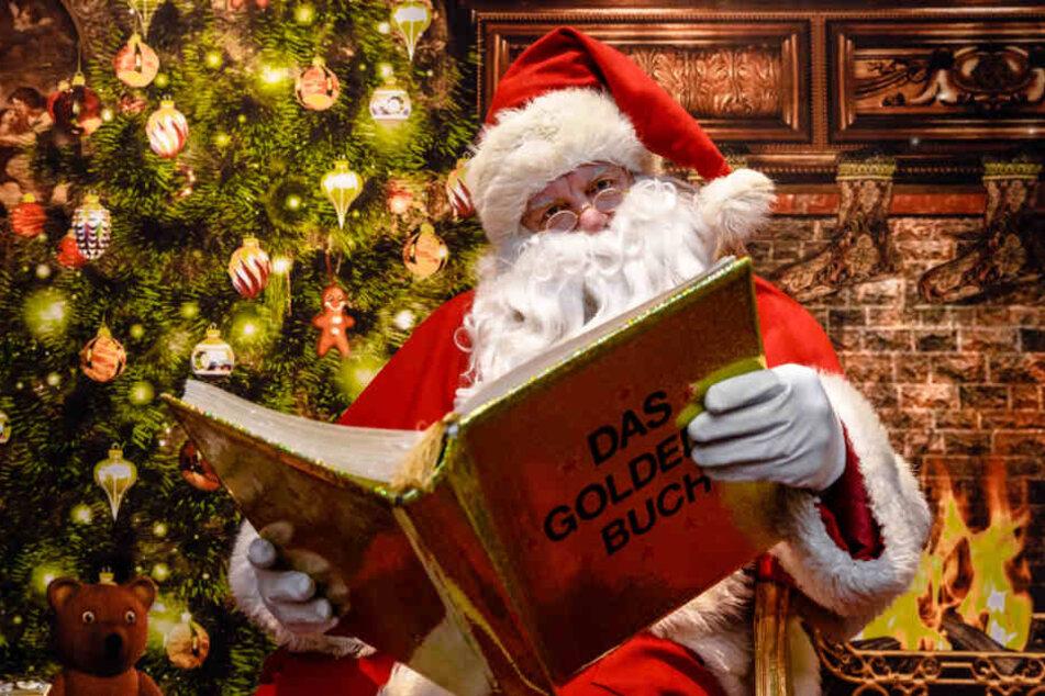 Der Weihnachtsmann darf auf den Märkten nicht fehlen.