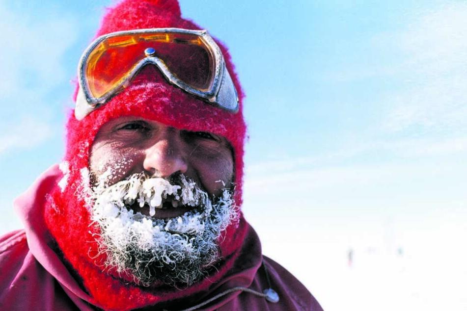 """Auch im """"Hochsommer"""" muss man in der Antarktis zweistellige Minusgrade aushalten."""