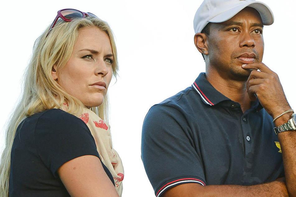 Beide geschockt: Die Nacktfotos von Lindsey Vonn und Tiger Woods kursieren im Netz.