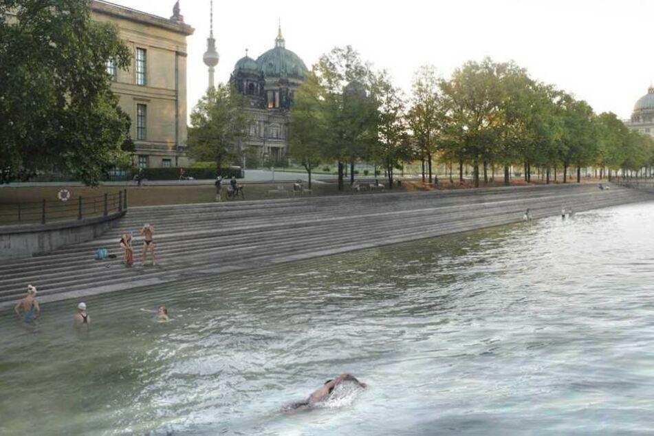 Kann man hier bald mitten in der Stadt baden gehen?