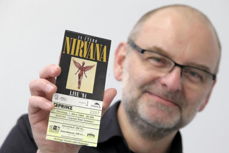 Der Münchner Gerhard Emmer war beim allerletzten Nirvana-Konzert dabei.