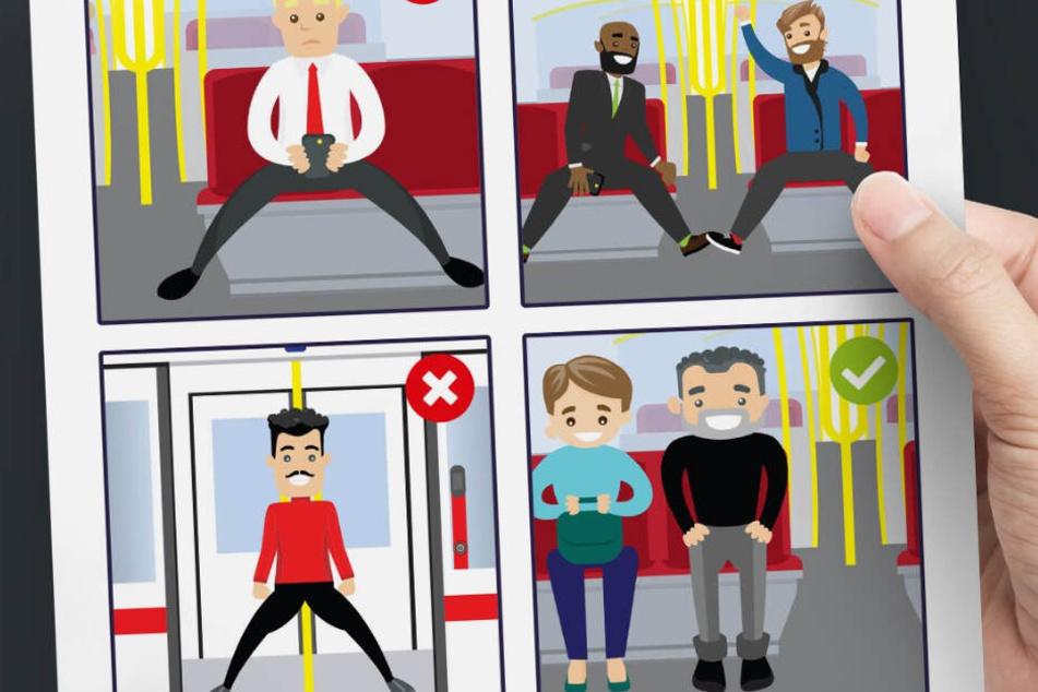 Diese Stadt verbietet Männern das breitbeinige Sitzen in der U-Bahn