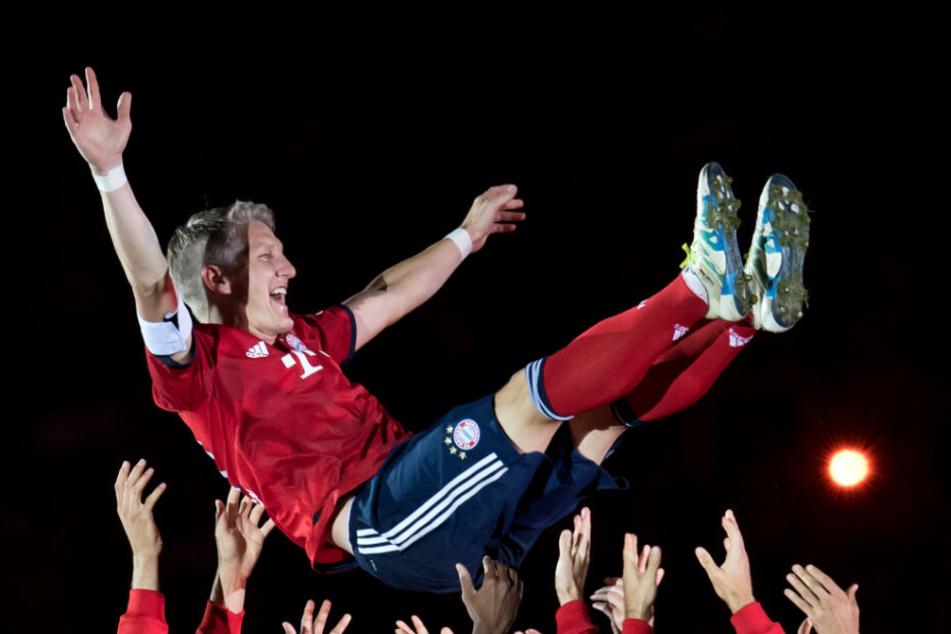 Bastian Schweinsteiger nach seinem Abschiedsspiel.