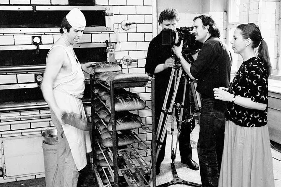 Im Unterhemd stand Wolfgang Meyer 1985 für das Sandmännchen vor der Kamera.