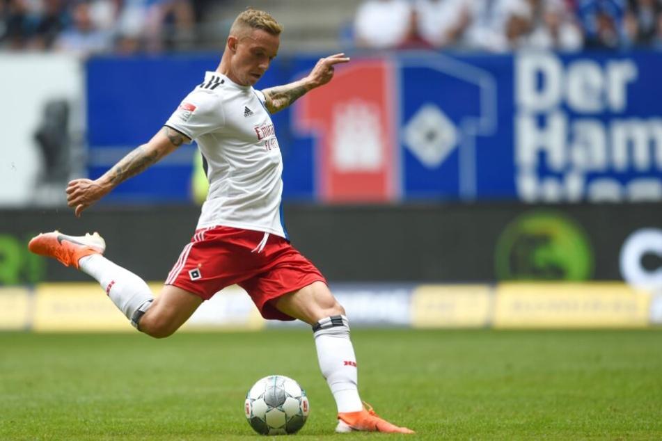 Sonny Kittel kam aus Ingolstadt zum HSV: In Nürnberg könnte der Scorer-König sein Startelf-Debüt feiern.