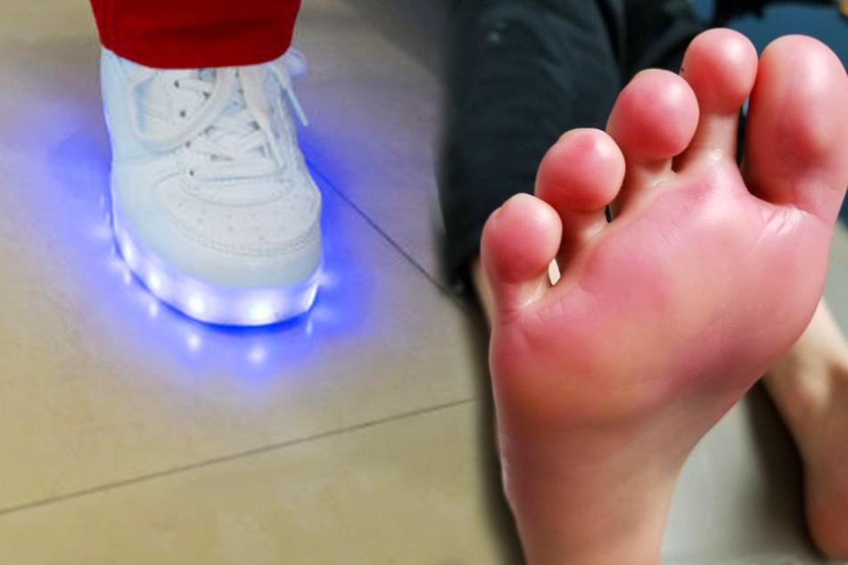 Die LED-Schuhe sehen nicht nur schön aus, sondern können auch ganz schön gefährlich werden.
