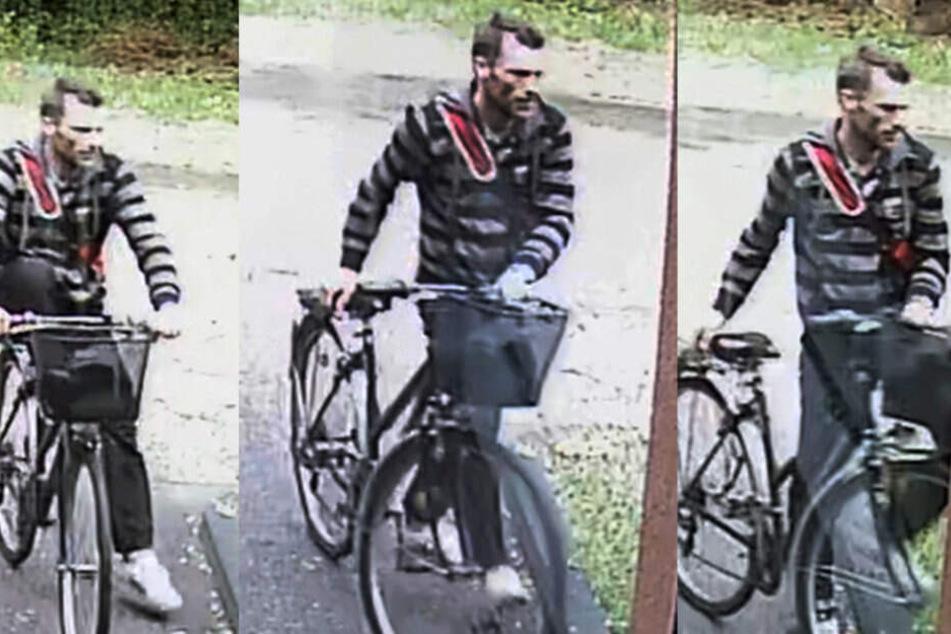 Mit diesen Fotos fahndet die Polizei nach einem Einbrecher.