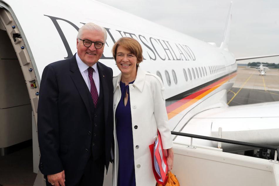 Bundespräsident Frank-Walter Steinmeier (62) und seine Frau Elke Büdenbender (56) fliegen von Berlin nach Johannesburg. (Archivbild)