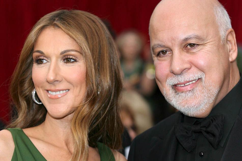 Das kanadische Künstlerehepaar Celine Dion und ihr Ehemann René Angélil bei den Oscars 2007 in Hollywood.