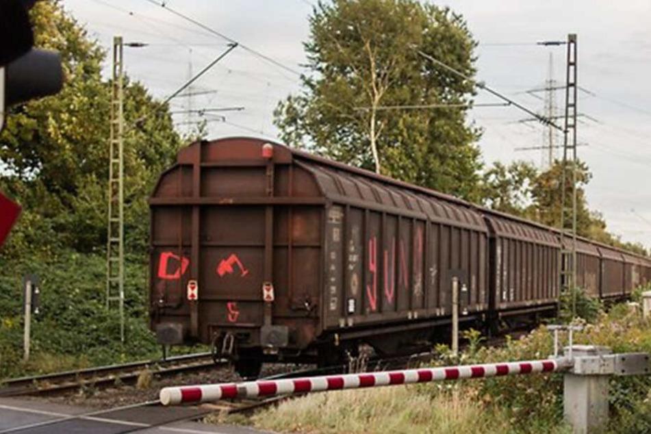 Der Führer des Güterzugs erkannte die Gefahr rechtzeitig und konnte bremsen. (Symbolbild)