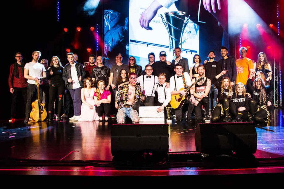 Insgesamt standen 14 Bands auf der Bühne.