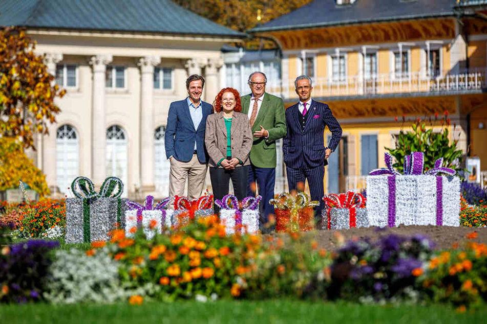 Schloss Pillnitz verwandelt sich in eine glitzernde Märchenlandschaft