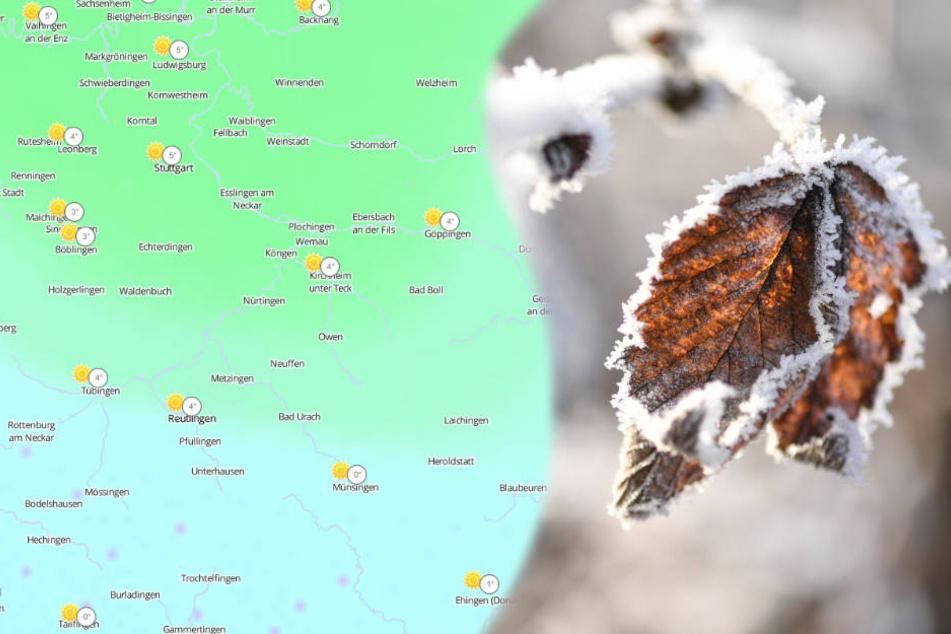 Auch tagsüber bewegen sich die Temperaturen im Bergland um den Gefrierpunkt. (Fotomontage/Symbolbild)