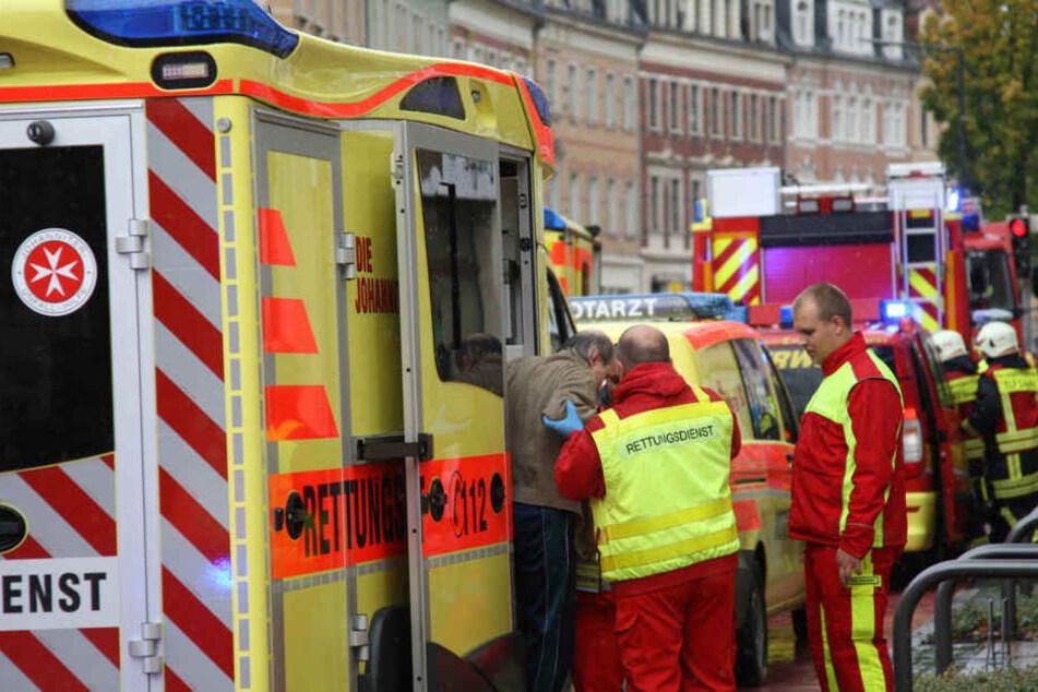 Sieben Bewohner mussten verletzt ins Krankenhaus.
