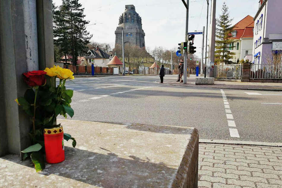 Unweit des Völkerschlachtdenkmals war es zu dem schlimmen Unfall gekommen.