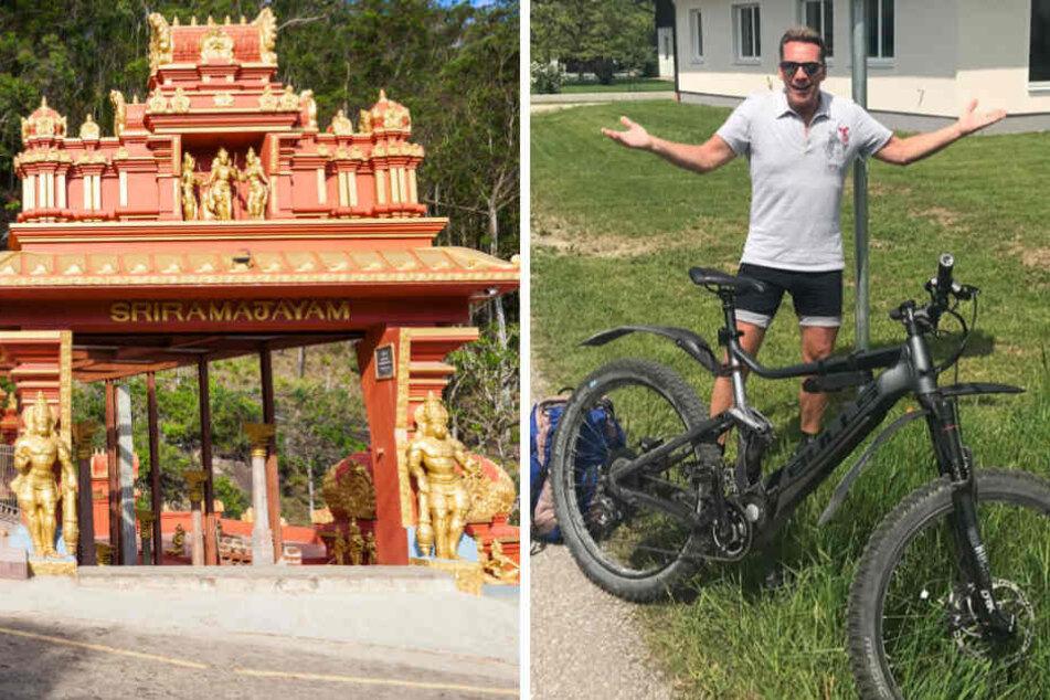 Ist Jürgen Milski wirklich nach Indien geradelt? Nein, er hat es nur bis nach Schwarzindien in Oberösterreich geschafft.
