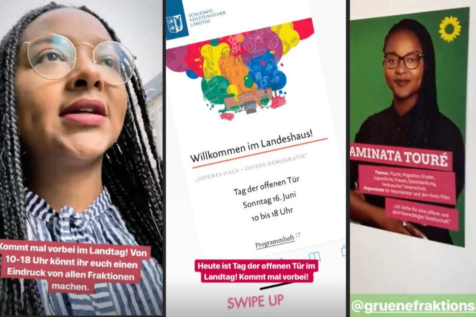 Zum Tag der offenen Tür gibt sich der Landtag in Kiel über den Account der neuen Vorzeige-Politikerin Aminata Touré ziemlich zeitgemäß.