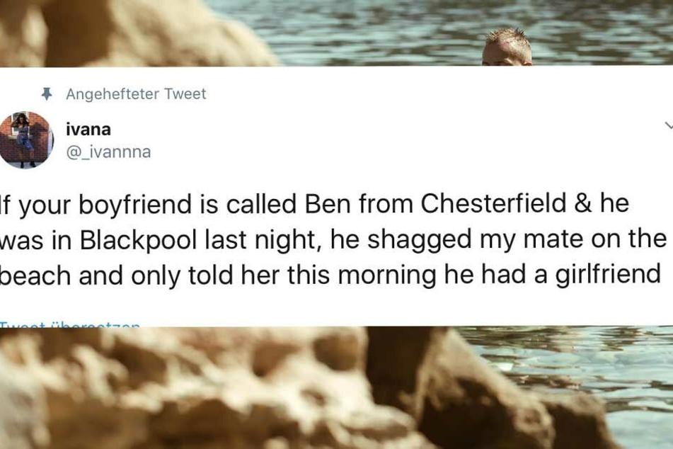 Mit diesem Tweet wurde der Seitensprung öffentlich gemacht.