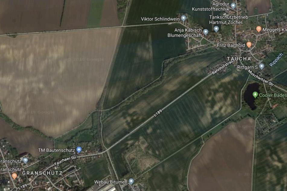 Zwischen den Hohenmölser Stadtteilen Granschütz und Taucha war der 34-Jährige unterwegs.