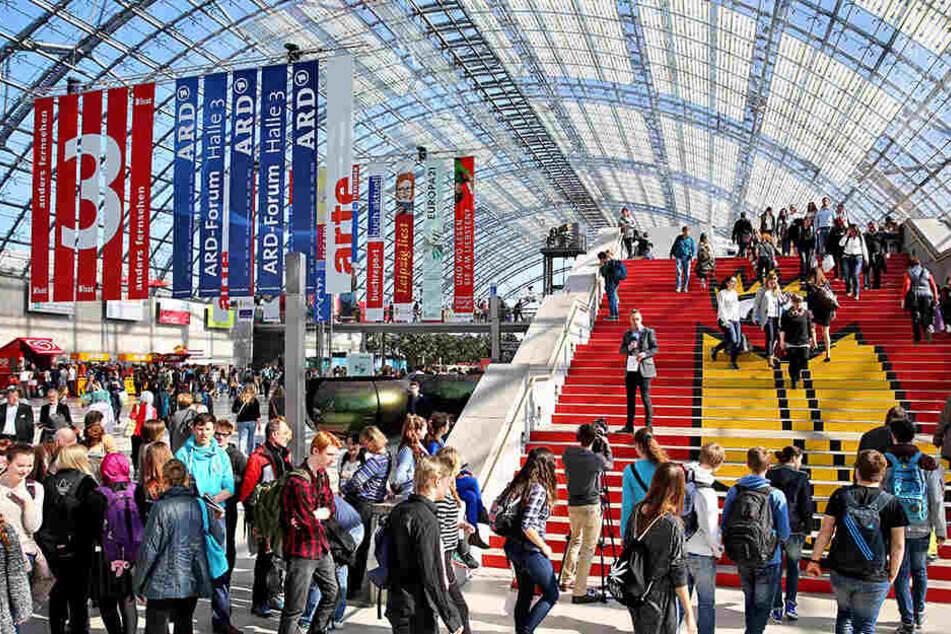 Derzeit findet die Leipziger Buchmesse auf dem Messegelände statt.