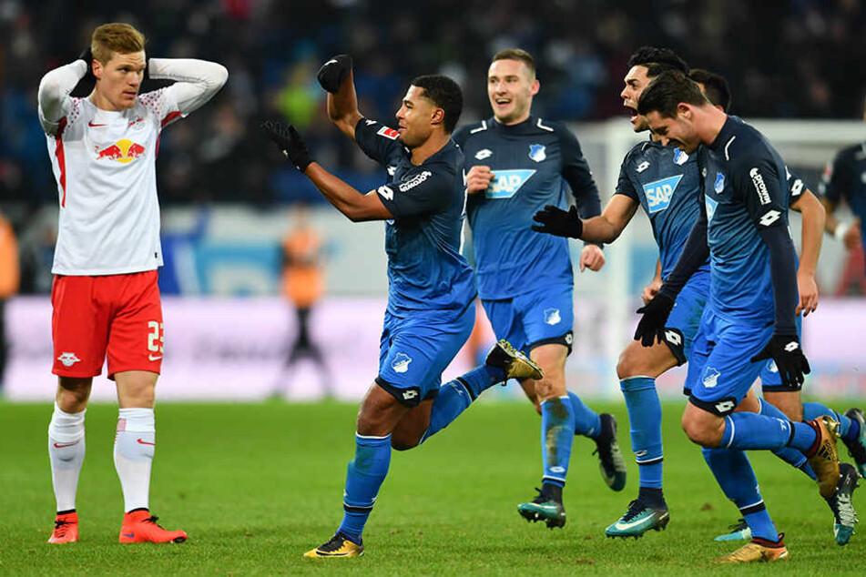 RB Leipzig verlor bei 1899 Hoffenheim überraschend deutlich mit 0:4.