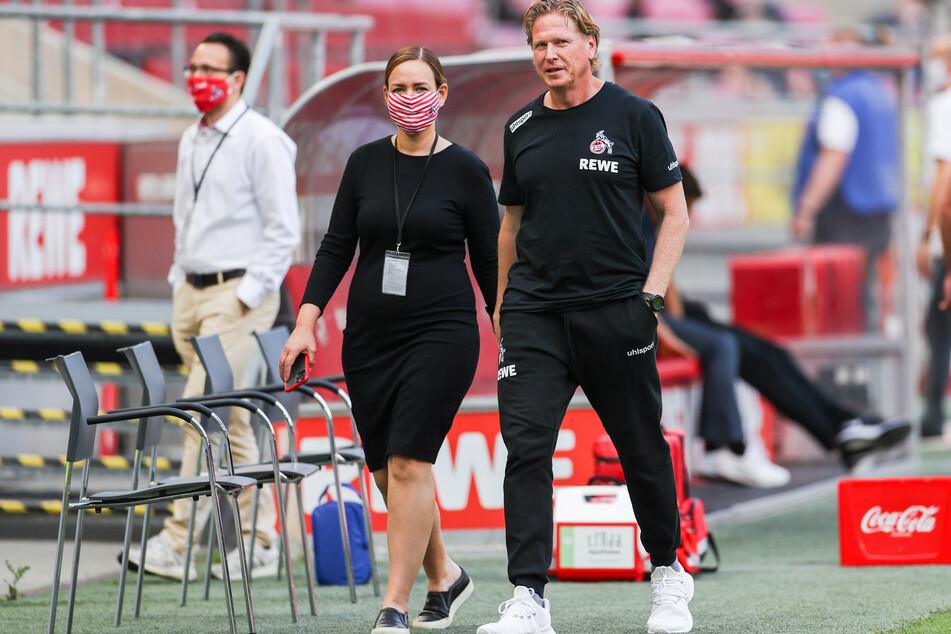 Kölns Trainer Markus Gisdol (rechts) kam in der Krise und sicherte den Bundesliga-Verbleib der Kölner.