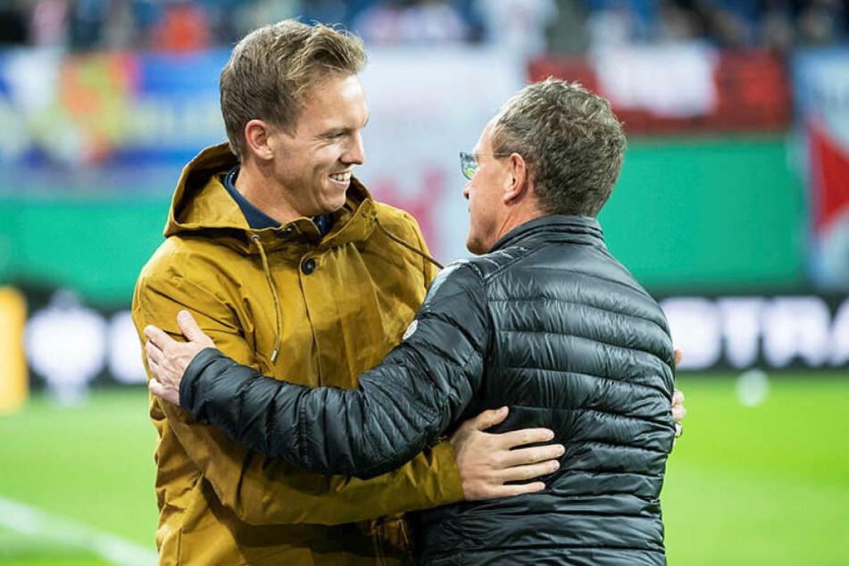 """Ein Duo aus dem Trainer Nagelsmann und dem Sportdirektor Rangnick? """"Es hätte weder mir noch Julian allzu großen Spaß gemacht"""", ist sich der 61-Jährige sicher."""
