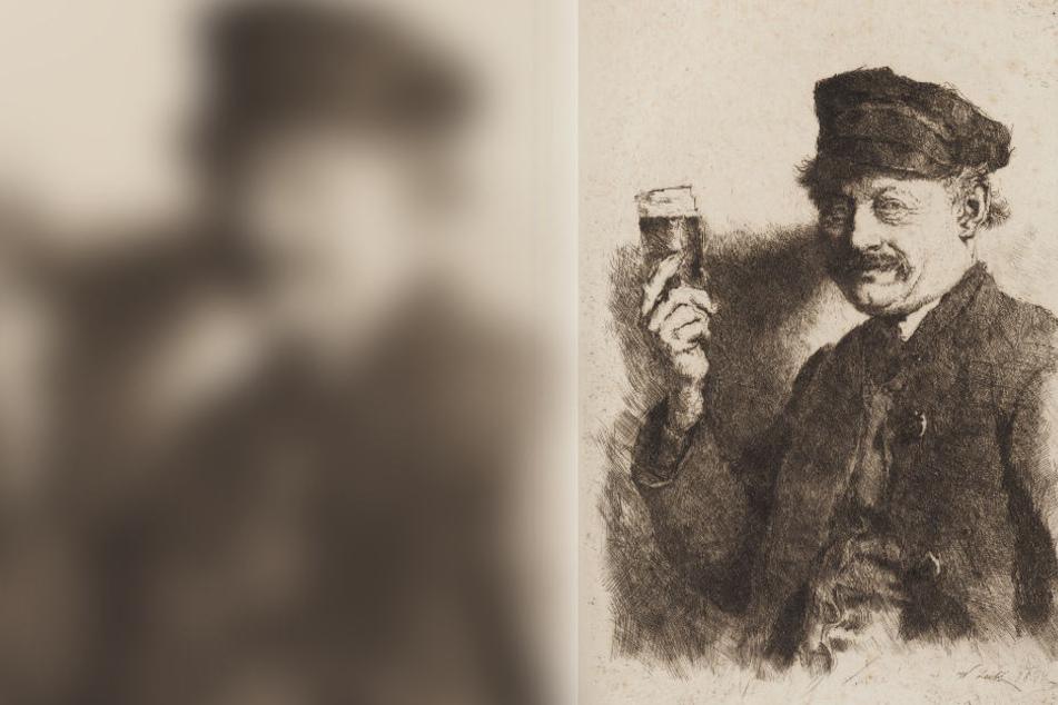 """Das Werk """"Der Trinker"""" von Wilhelm Leibl wurde von der Kunsthalle 1944 von der Mannheimer """"Verwertungsstelle volksfeindlichen und jüdischen Vermögens"""" erworben."""