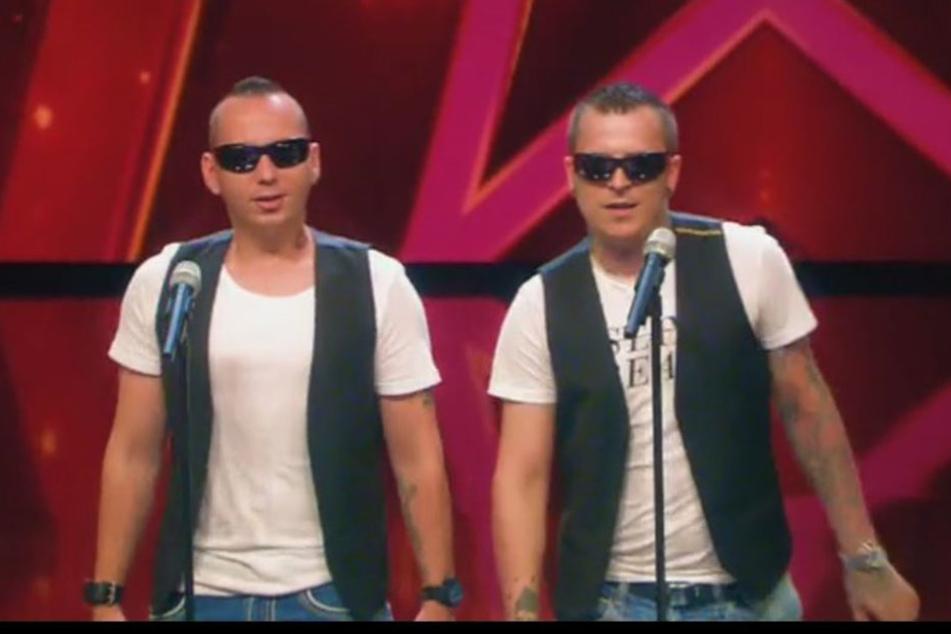 Sebastian (l.) und Rico von Neuzeitkinder traten beim Supertalent auf.