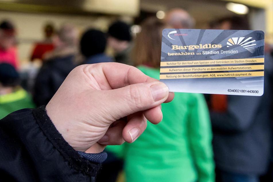 Diese Karte konnten die Dynamo-Fans bisher immer aufladen und dann damit bezahlen.