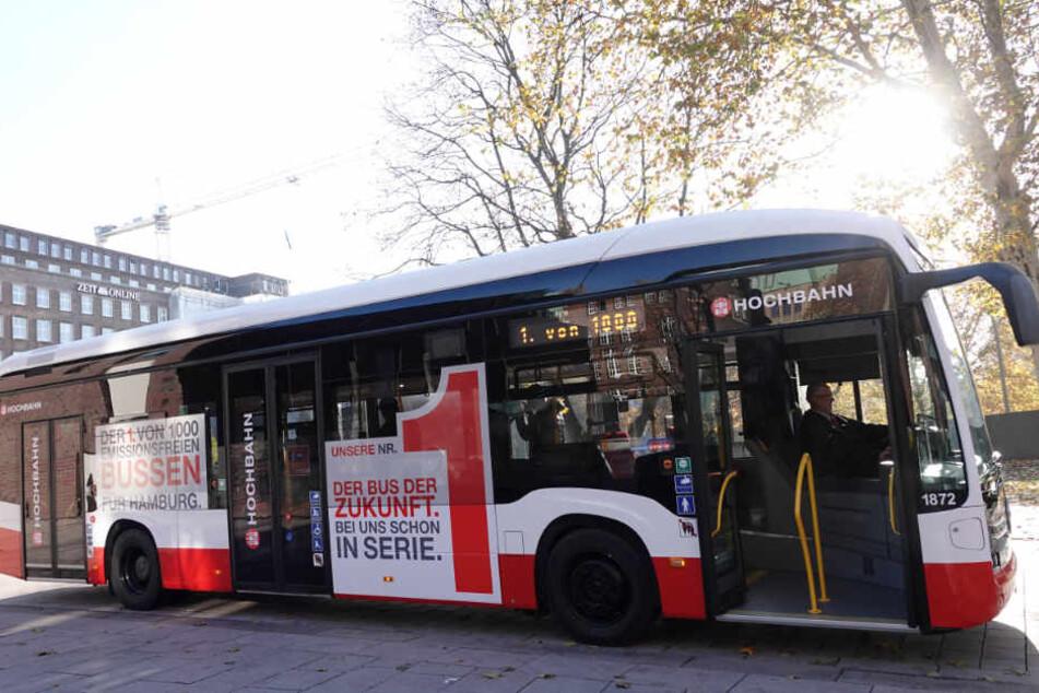 So sieht er aus: der erste Elektrobus von Hamburg