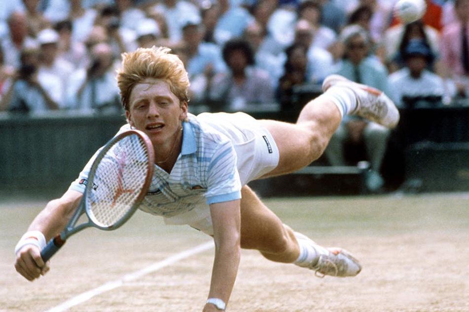 Der einstige Wimbledon-Gewinner Boris Becker (49) in seiner Parade-Disziplin.
