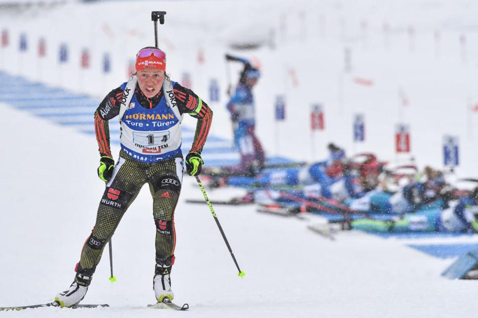 Biathletin Laura Dahlmeier darf sich am Freitag über ihr viertes WM-Gold freuen.